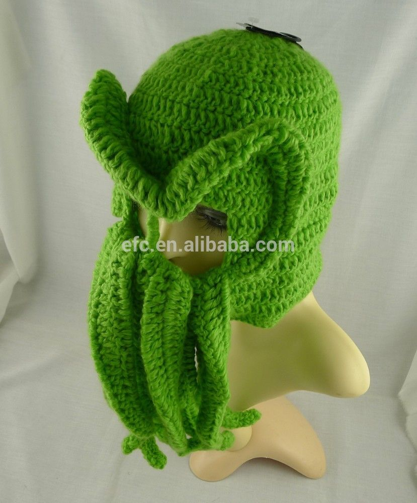 Hot Sell Hand Knitted Crochet Cthulhu Ski Mask Ski Hat With ...