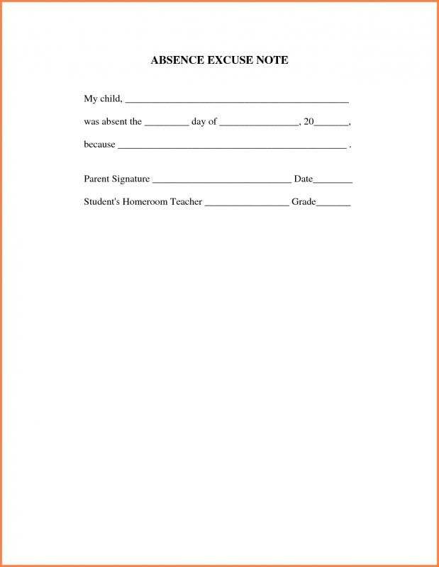 Doctors Note For Work Absence template Pinterest Note