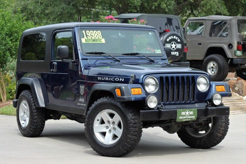 2005 Patriot Blue Jeep Wrangler Unlimited Rubicon Only 2 Years