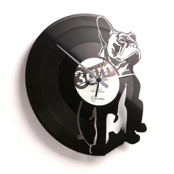 High Quality Hugo: Modern Vinyl Wall Clock Reproducing A Dog   Wall Clocks   Home  Furnishings   Furniture