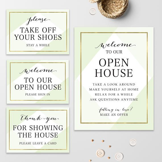 Real Estate Welcome To Our Open House Please Take Off Your