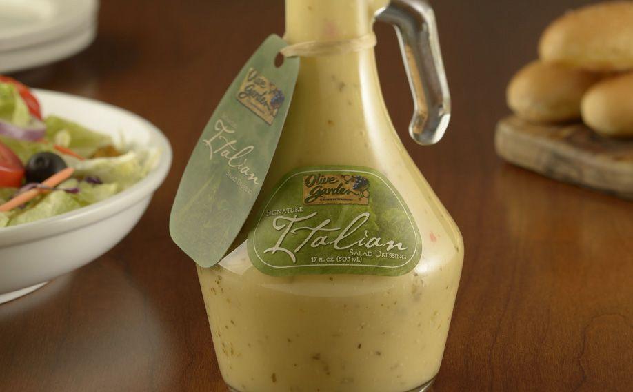 olive garden italian salad dressing bottle food