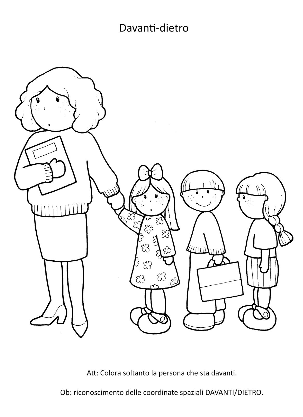 Disegni Da Colorare Schema Corporeo Scuola Dell Infanzia