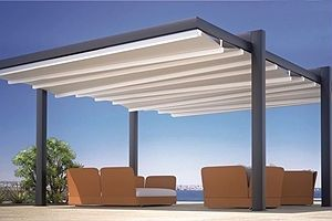 Forli Freestanding Patio Cover System Cantilever From Posts 4u0027 Motorized Or  Manual Powdercoated