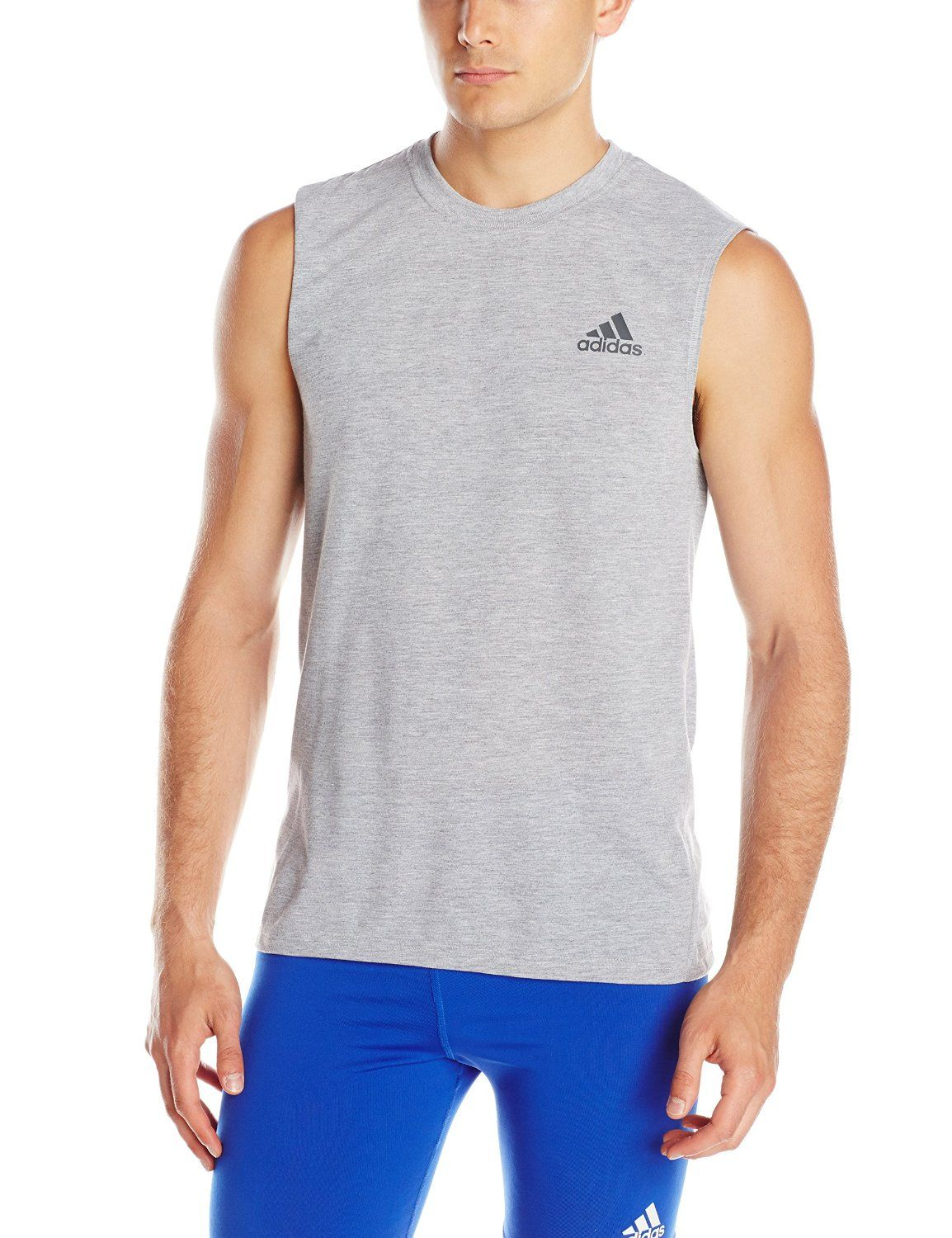 3dcfef6c72302 Amazon.com: adidas Performance Men's Ultimate Sleeveless Crew Tee ...