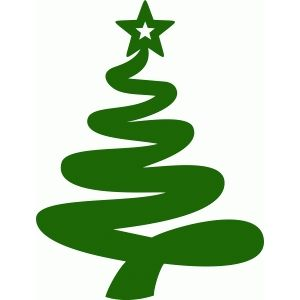 Merry Christmas Tree Flourish Vinyl Decal Sticker For Home Cup Mug Glass Wall