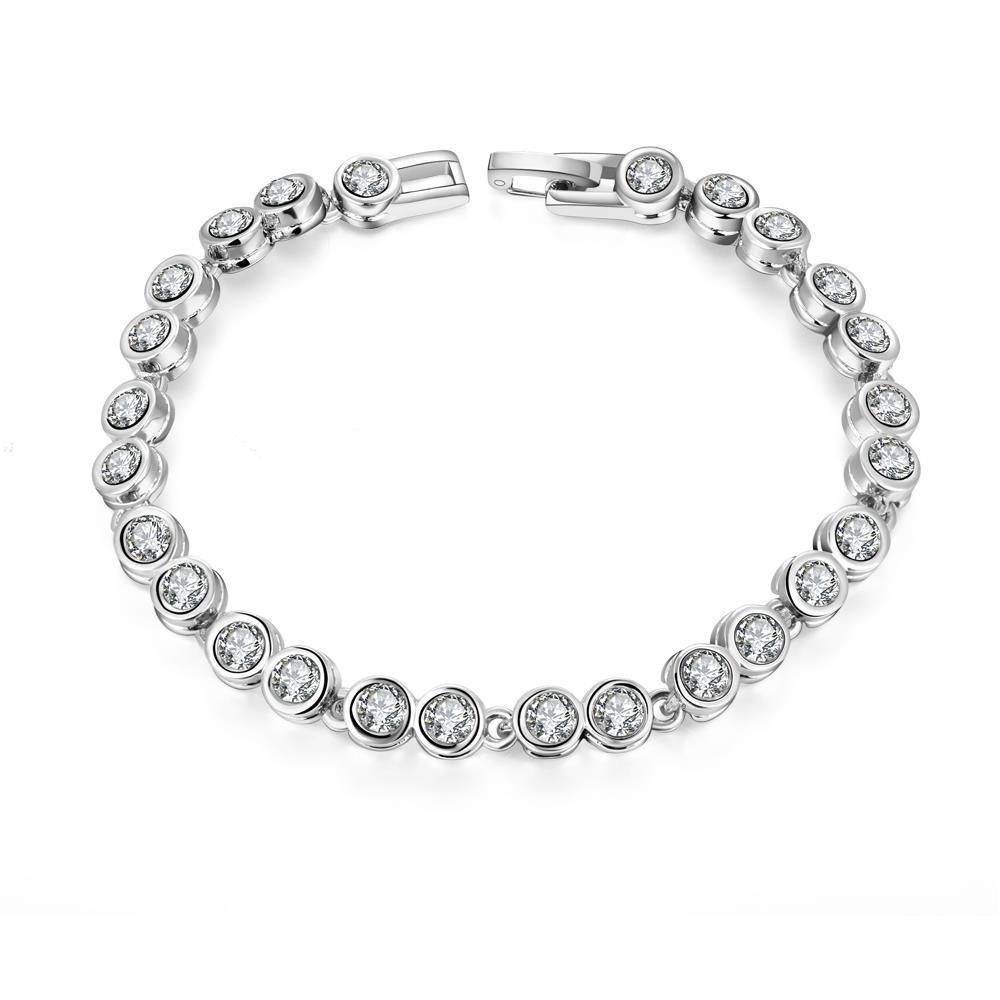 Around the world k white gold plated bracelet products