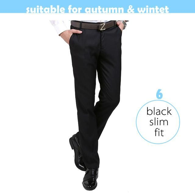 2265b64768f Men Luxury Suit Pants Social Dress Pants Mens Slim Fit Formal Blazer  Trousers 2017 New Arrival Pantalon Costume Homme Black B065