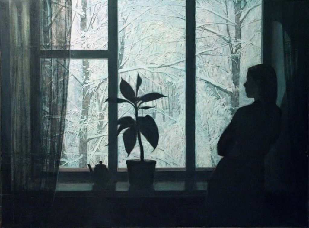 """Шумейко Антон Алексеевич(род. 1980,Архангельская обл.) """"Зимний вечер""""(2003)."""