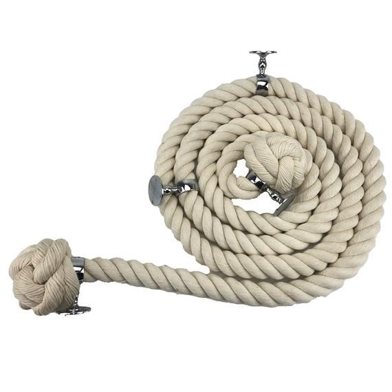 Best 28Mm Natural Cotton Bannister Stair Handrail Rope 10 Foot 400 x 300