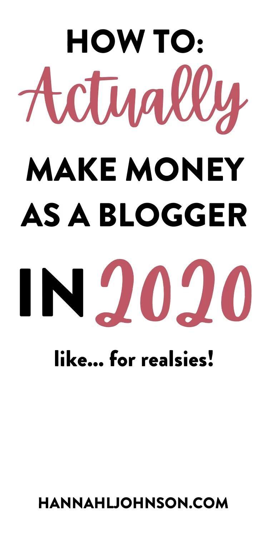 How to Actually Make Money as a Blogger in 2020