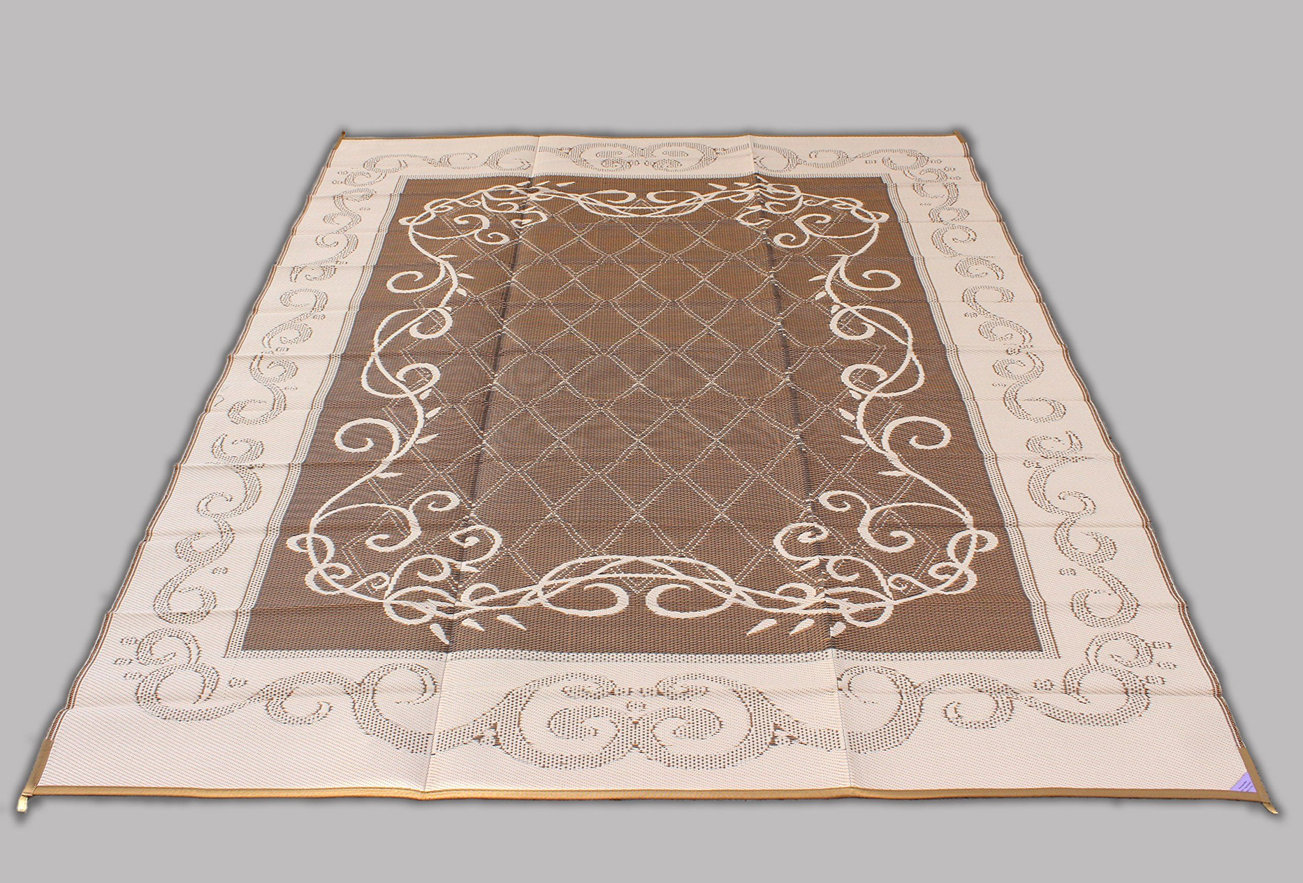 Reversible Mat Brown And Beige Patio Outdoor Camping Garden Mat 9 X 12 Check Out This Great Product It Is A Indoor Outdoor Carpet Garden Mats Outdoor Carpet
