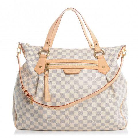 Louis Vuitton Damier Azur Evora Gm Bag Guaranteed Authentic Pre Owned Luxury Cheap Louis Vuitton Handbags Louis Vuitton Bag Neverfull Louis Vuitton Handbags