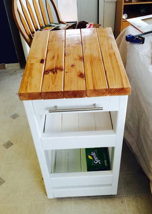 21 Things You Can Build With 2x4s Diy Kitchen Cart Building A