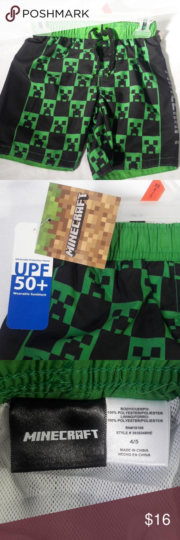 0ac570d5db Minecraft swim trunks Young boys size 4 - 5 Minecraft swim trunks Minecraft  Swim Swim Trunks