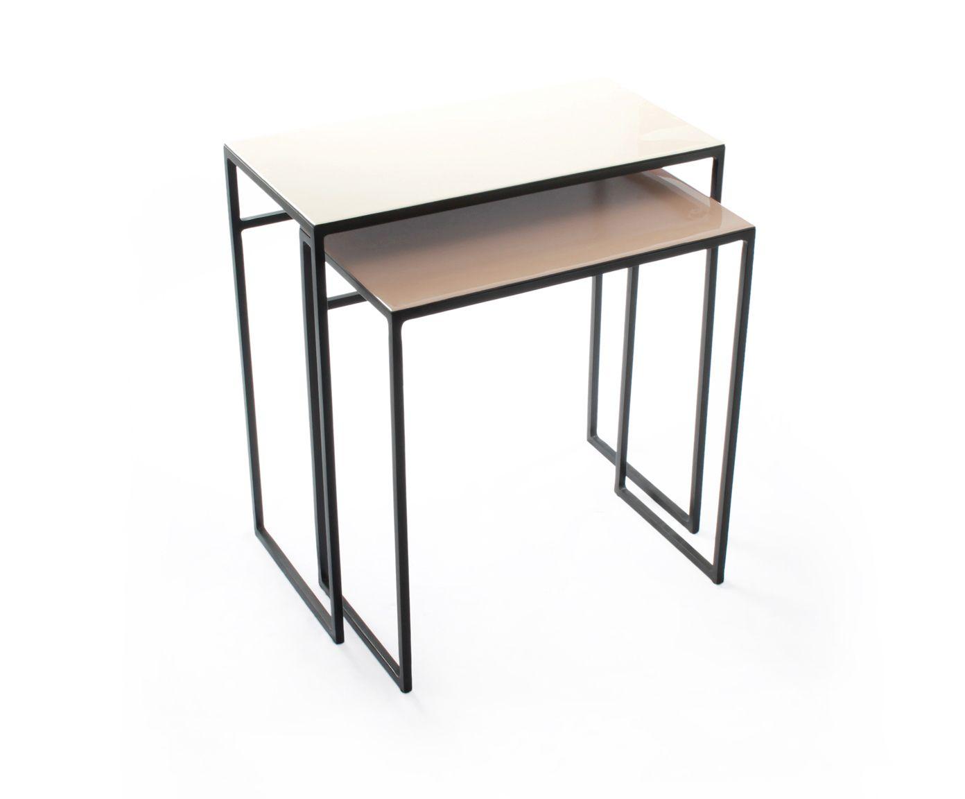Set de 2 mesas auxiliares nido de metal Perth I | Westwing Home ...