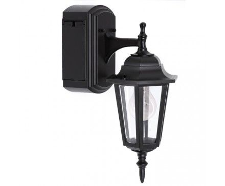 Reversible Wall Lantern With Built In Electrical Outlet Gfci