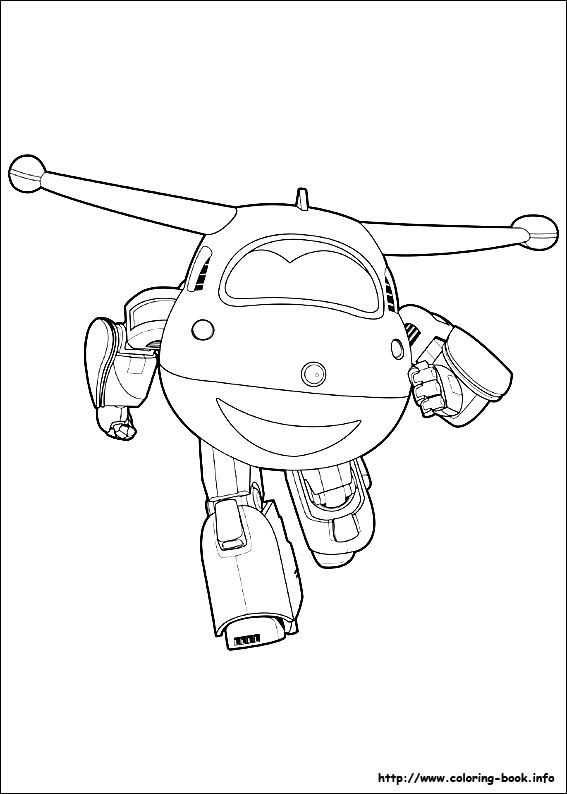 super wings coloring picture