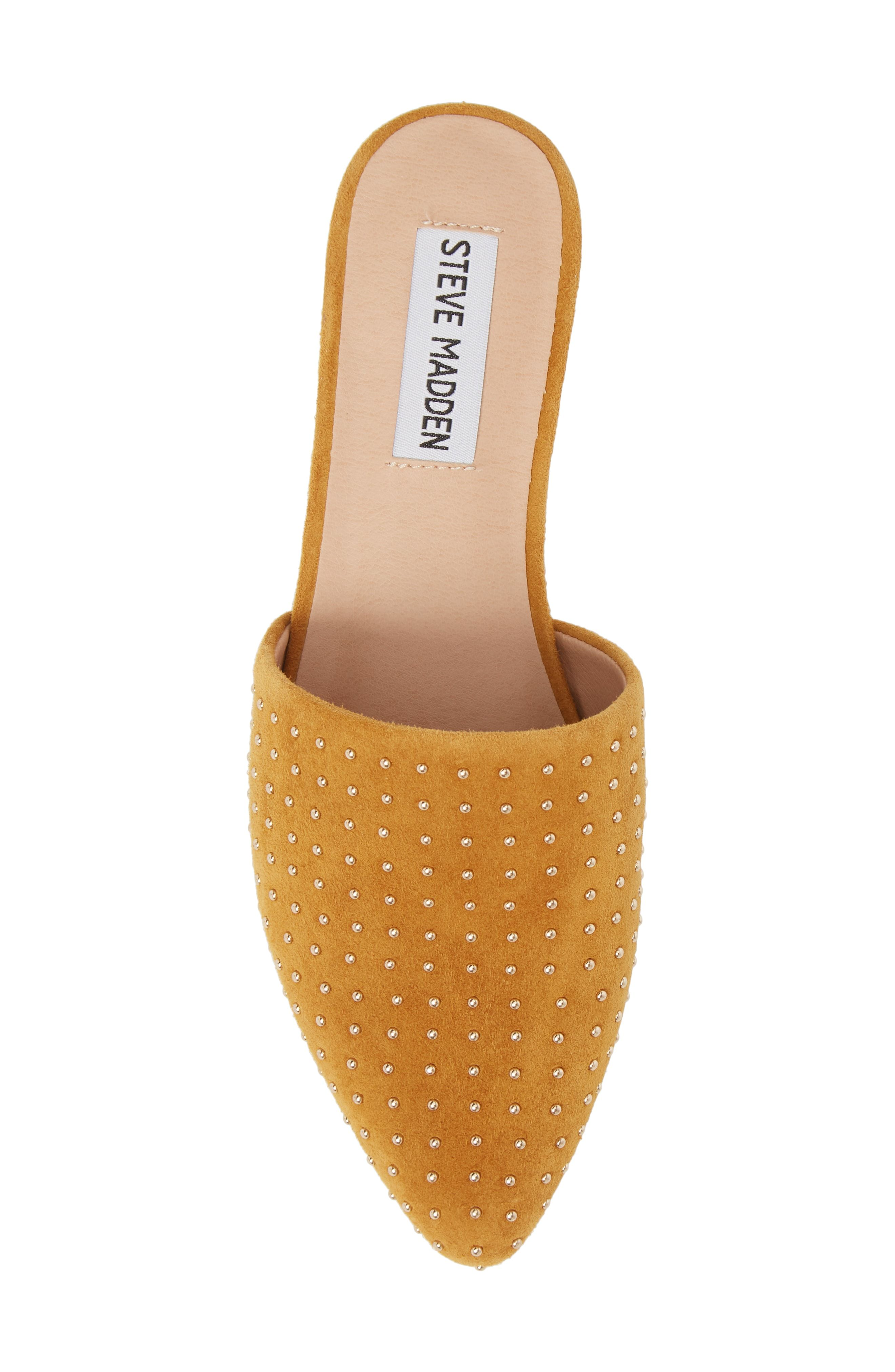 a60e82e5cdc nordstrom sale  nsale   steve madden mustard suede studded mules ...