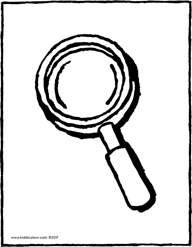 Magnifying Glass Kiddicolour Pictures To Draw Magnifying Glass Coloring Pages