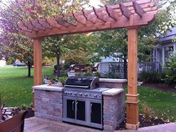 Grill Center With Cedar Pergola Outdoor Pergola Pergola Cedar Pergola
