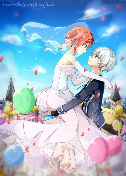 Akagami No Shirayukihime Snow White With The Red Hair Anime And Manga Married Prince Zen And Shirayuki Snow White With The Red Hair Anime Romantic Anime