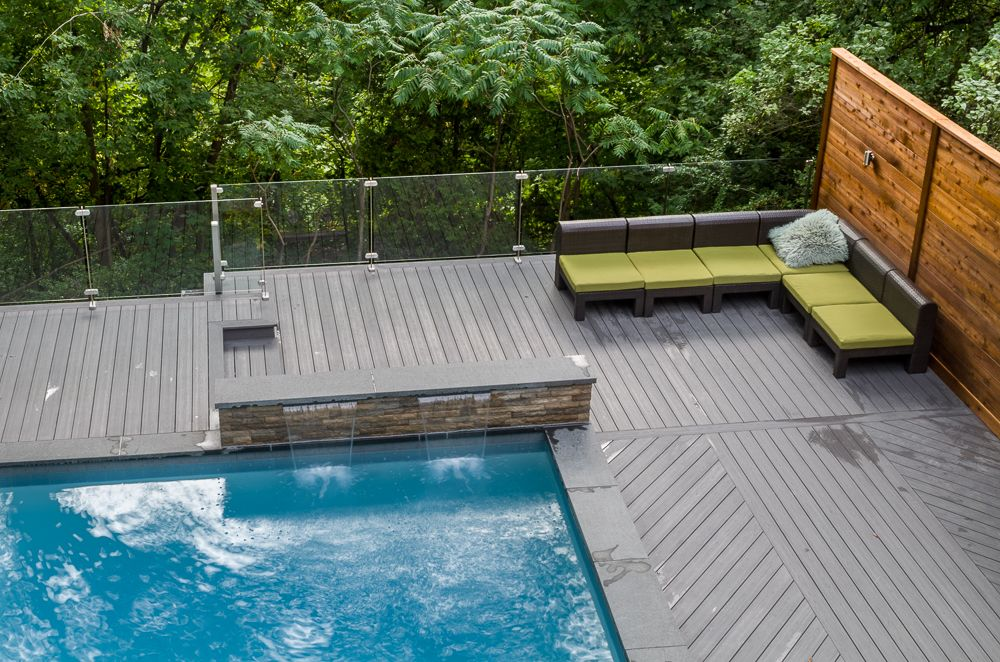 VsiRail Glass Railing Aerial View (With images)   Deck ...