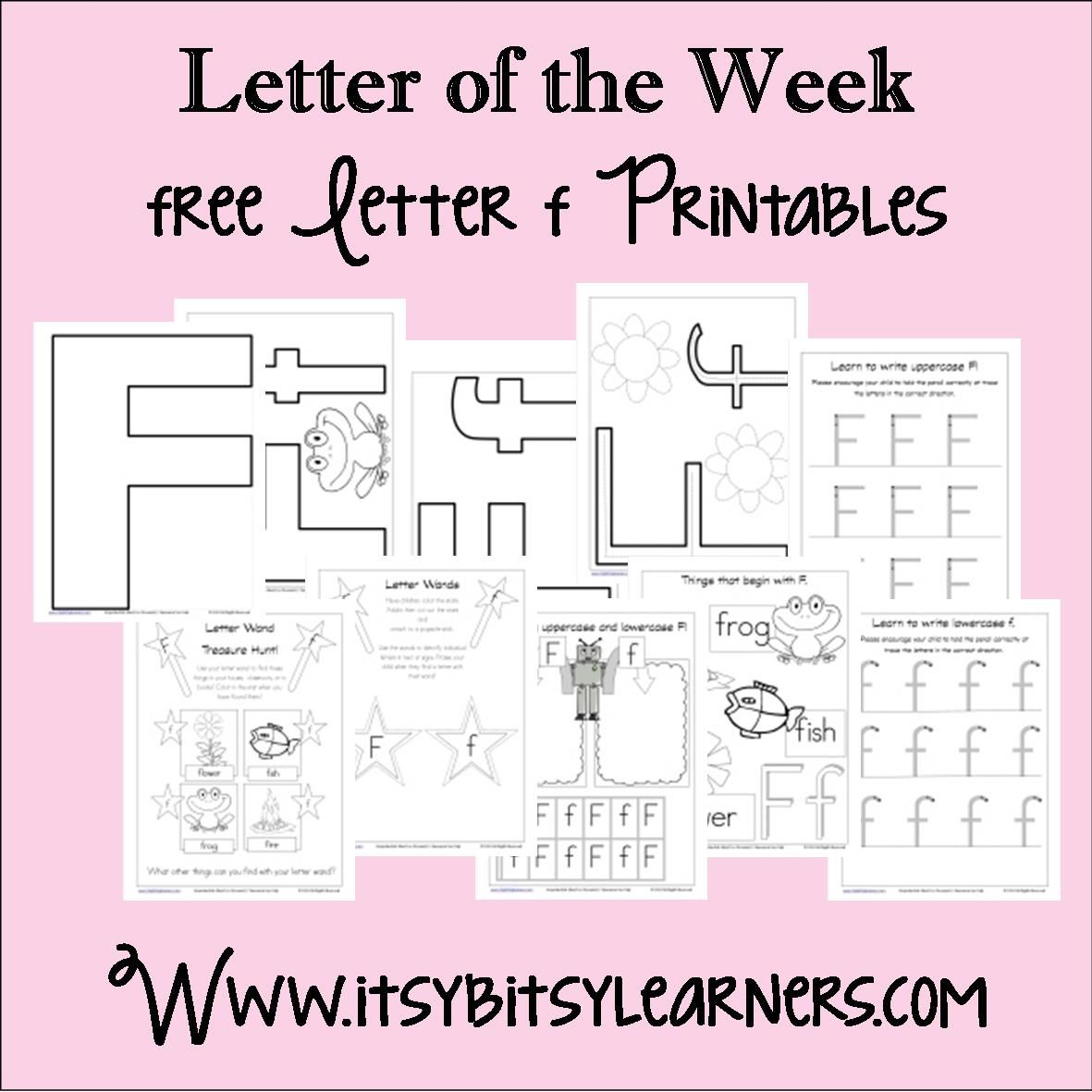 Letter Ff Printables Free From Itsy Bitsy Learners