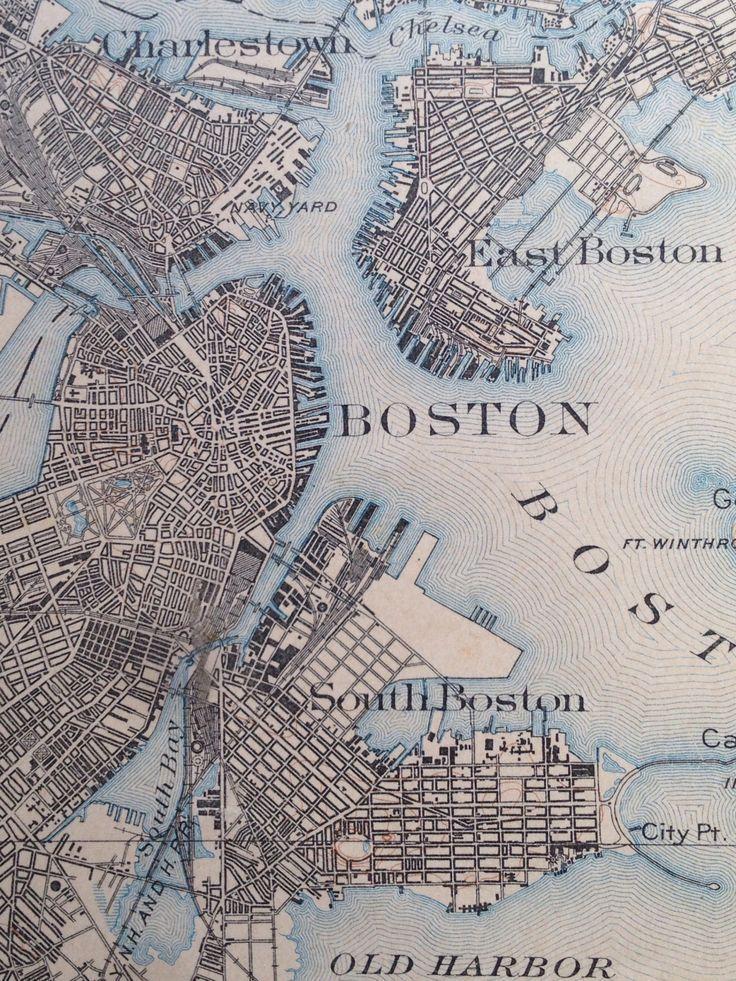 Maptitude1 Boston Map Illustrated Map Old Maps