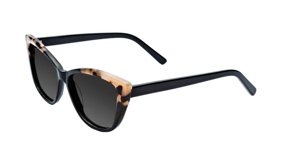 Affordable Fashion Glasses Cat Eye Sunglasses Women Dolled Up Ebony Granite Tilt
