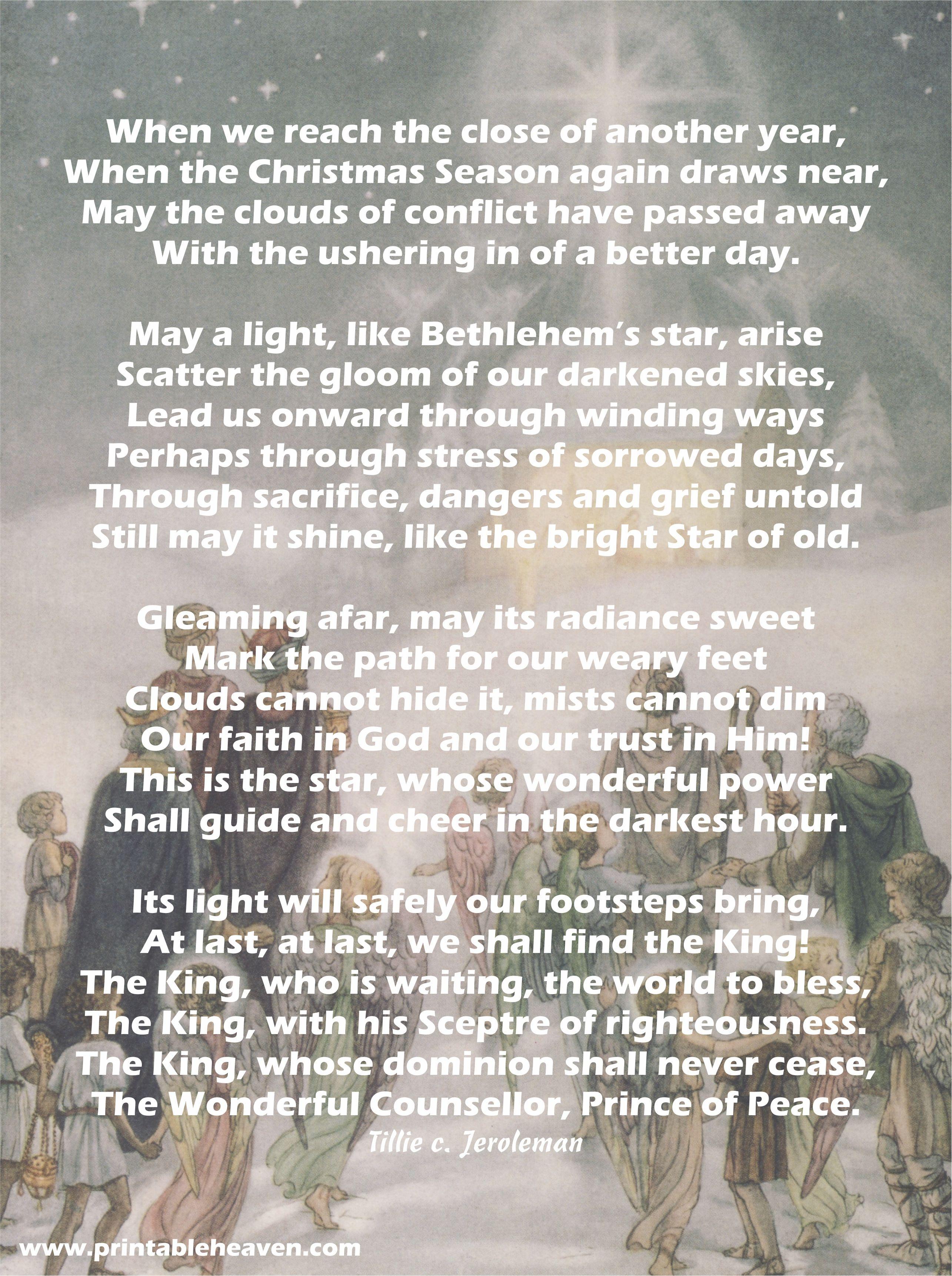 lovely religious christmas poem wwwprintableheavencom - Religious Christmas Poems
