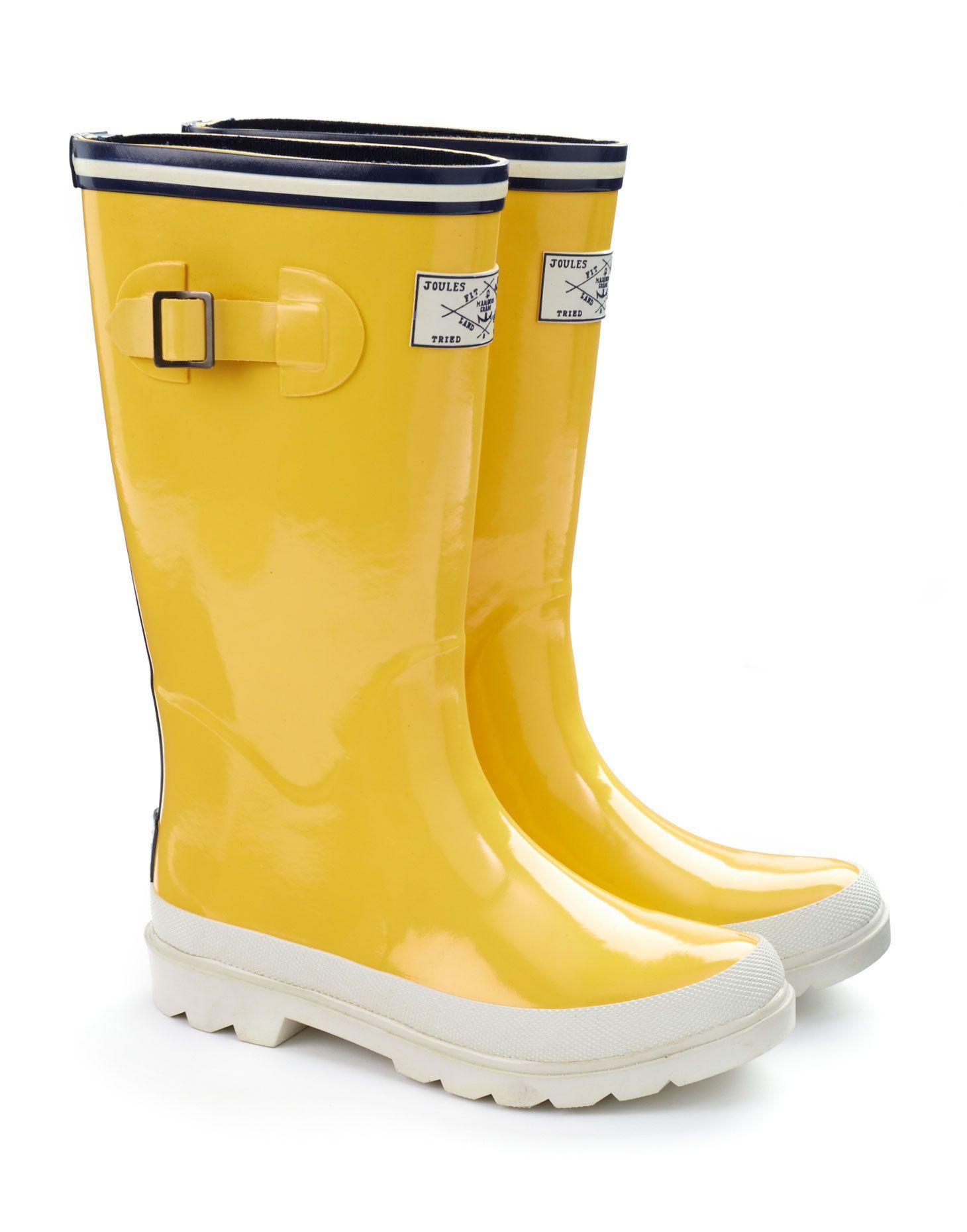 classic yellow rain boots
