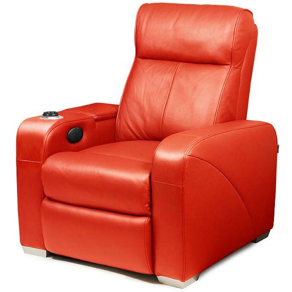 Premiere Home Cinema Chair Red Single Seat Chair Cinema Chairs