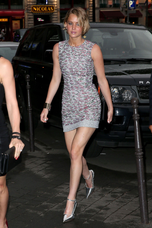 Jennifer Lawrence arrives at a Dior dinner on July 7, 2014, in Paris, France. Getty Images -Cosmopolitan.com