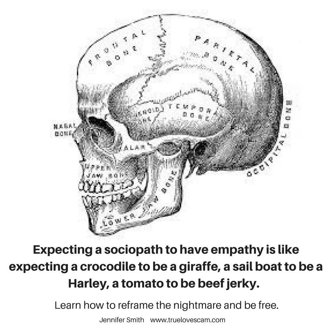 Expecting a sociopath to have empathy is like