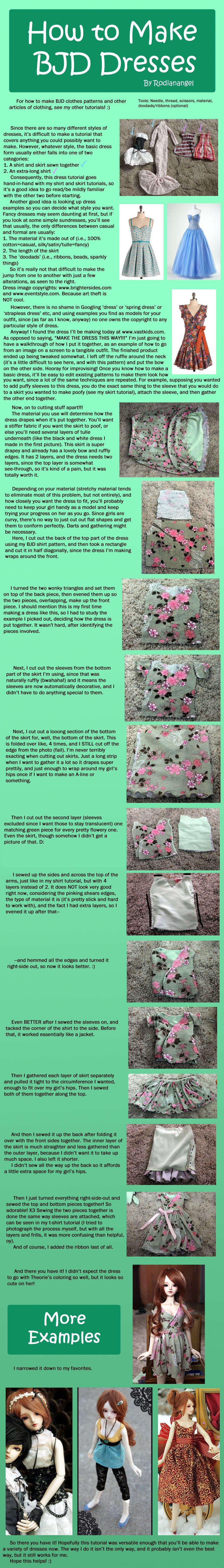How to Make BJD Dresses by RodianAngel.deviantart.com on @deviantART
