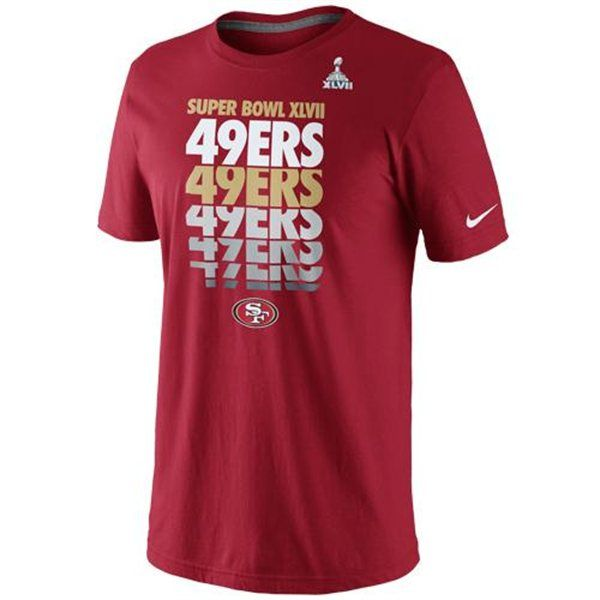 be78c75e1 Nike San Francisco 49ers Super Bowl XLVII Bound Blockbuster T-Shirt ...