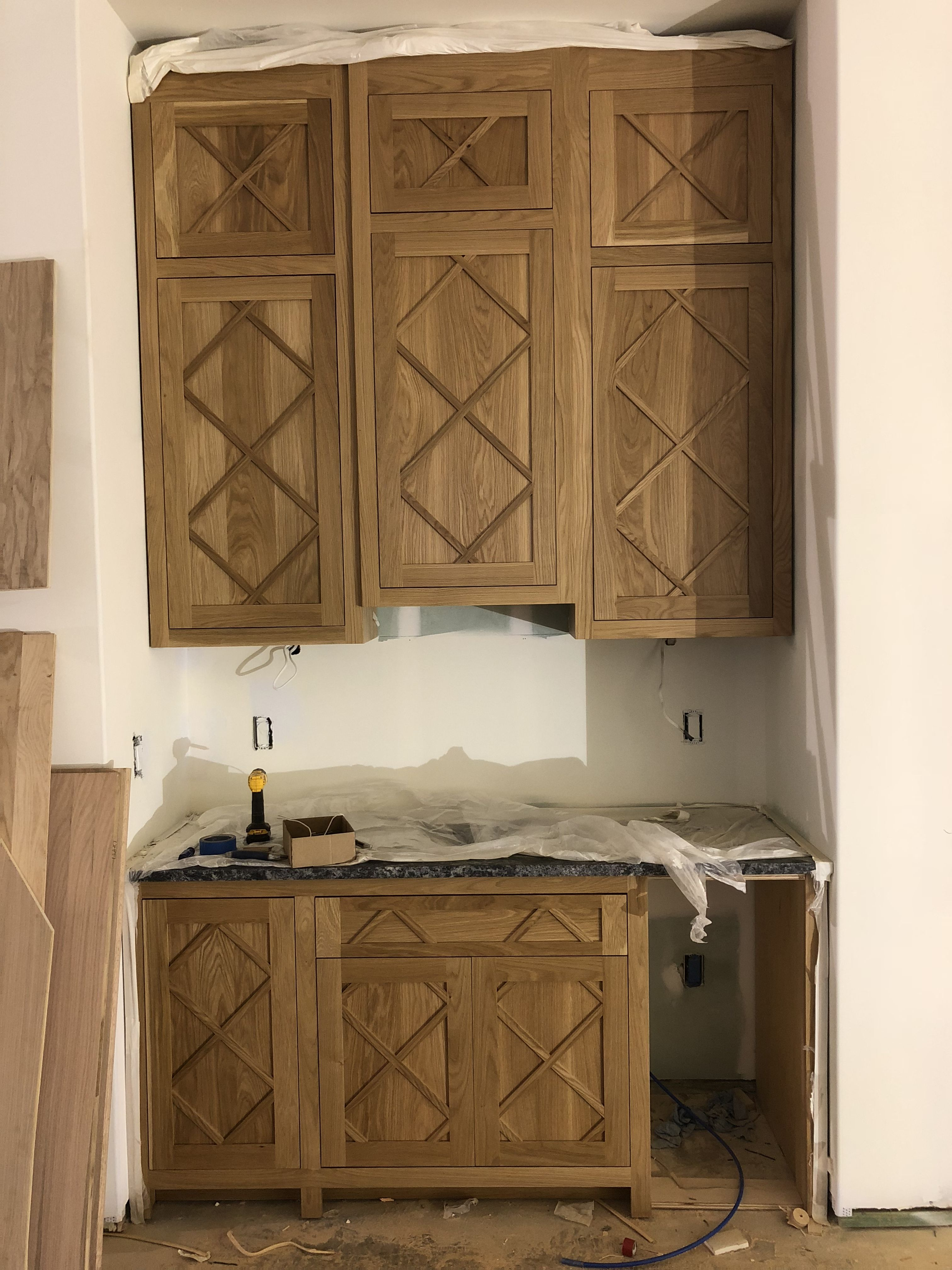 Clear Coat Lacquer On White Oak Bar Doors With Diamond Pattern Wet Bar Designs Custom Cabinets Kitchen Cabinets