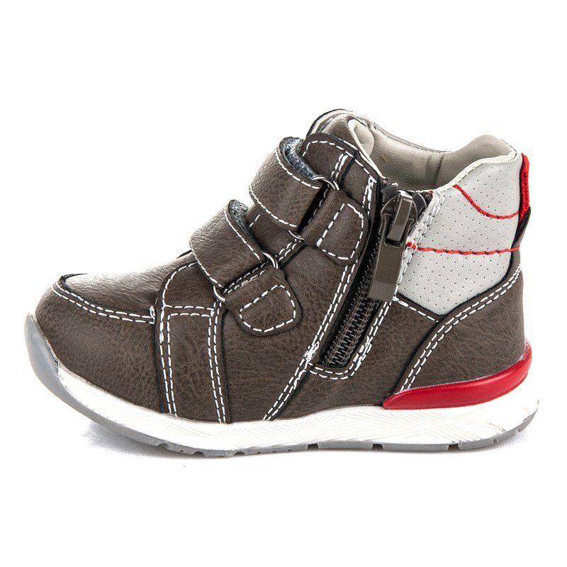 Polbuty I Trzewiki Dzieciece Dla Dzieci Americanclub Brazowe Obuwie Na Rzepy I Suwak American Club Wedge Sneaker Shoes Sneakers