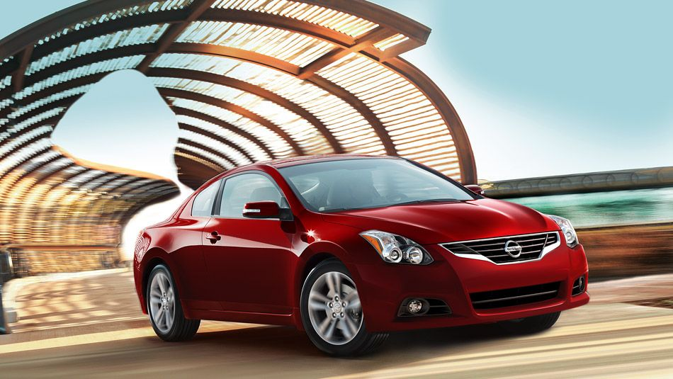 Nissan Altima Coupe 2 5 S Shown In Cayenne Red Nissan Altima Nissan