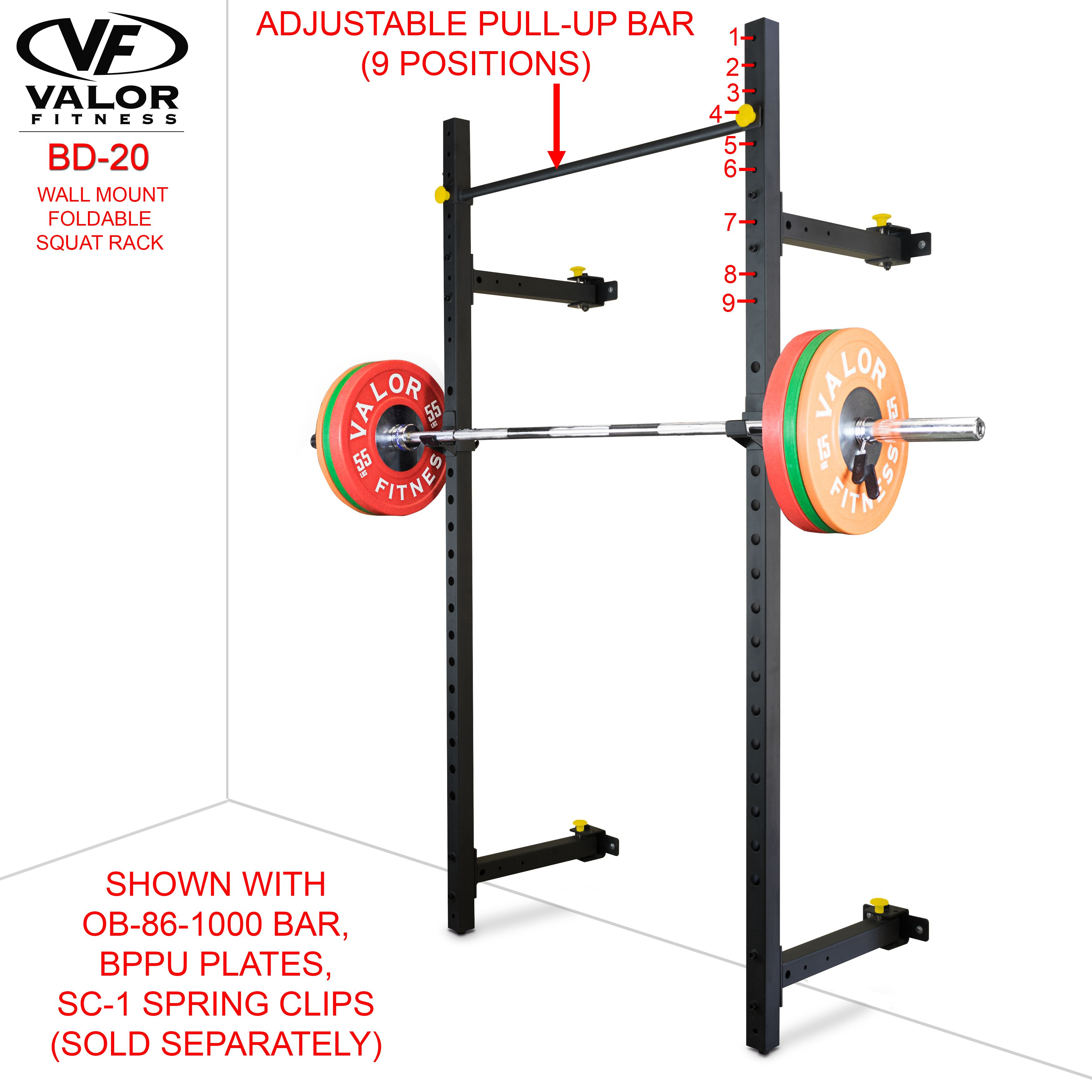 Squat Rack Collapsible Wall Mount Gymnastics Bars For Home Pull Up Bar Home Gym