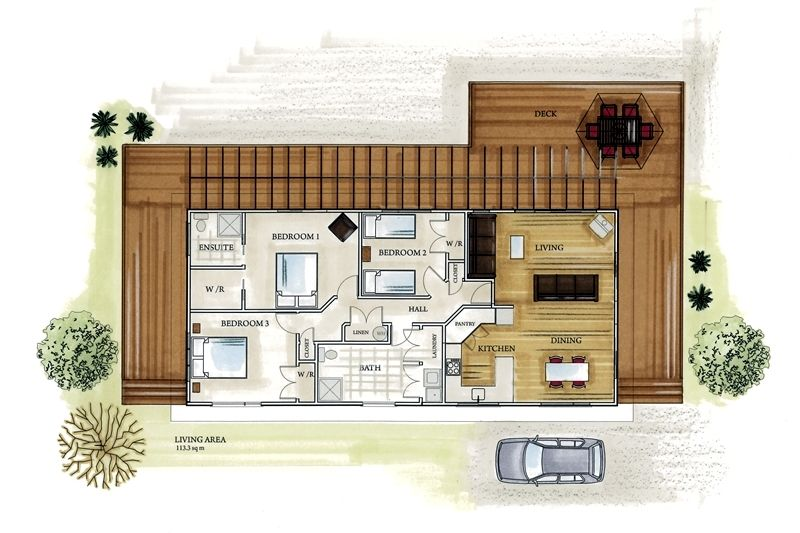 bach house plans