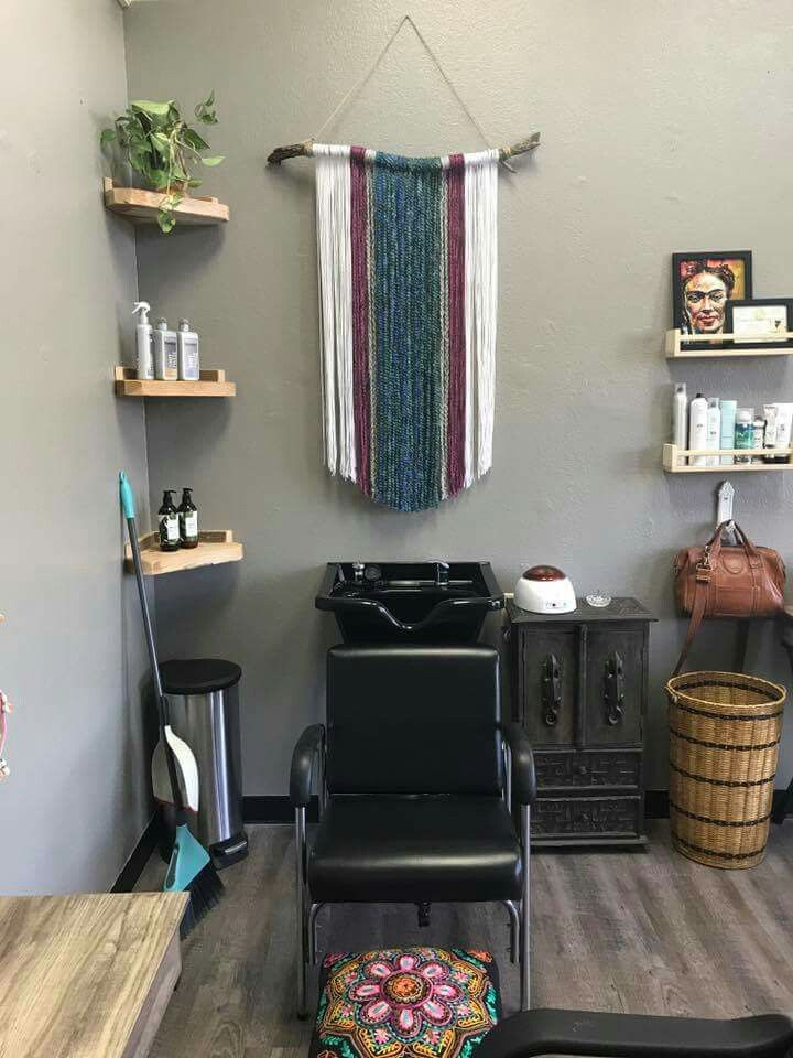 shampoo bowl area with pinterest inspired wall hanging fringe a rh pinterest com
