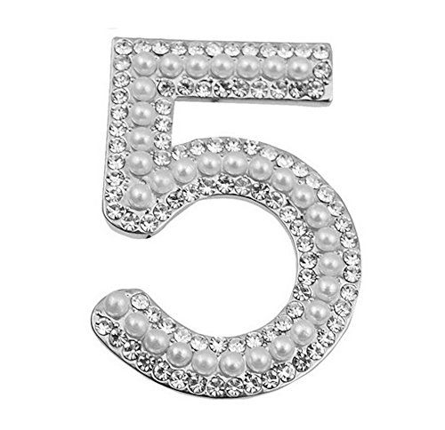 Silver Plated Number Five Brooch Pin >>> Find out more about the great product at the image link.