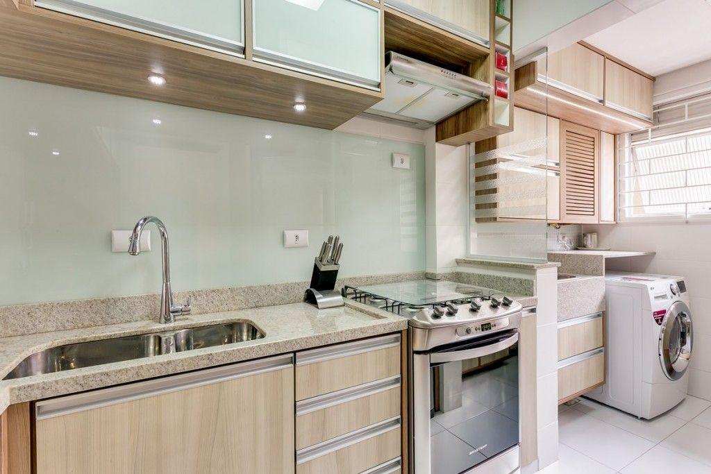 Revestimento De Vidro Branco Na Cozinha Cozinhas