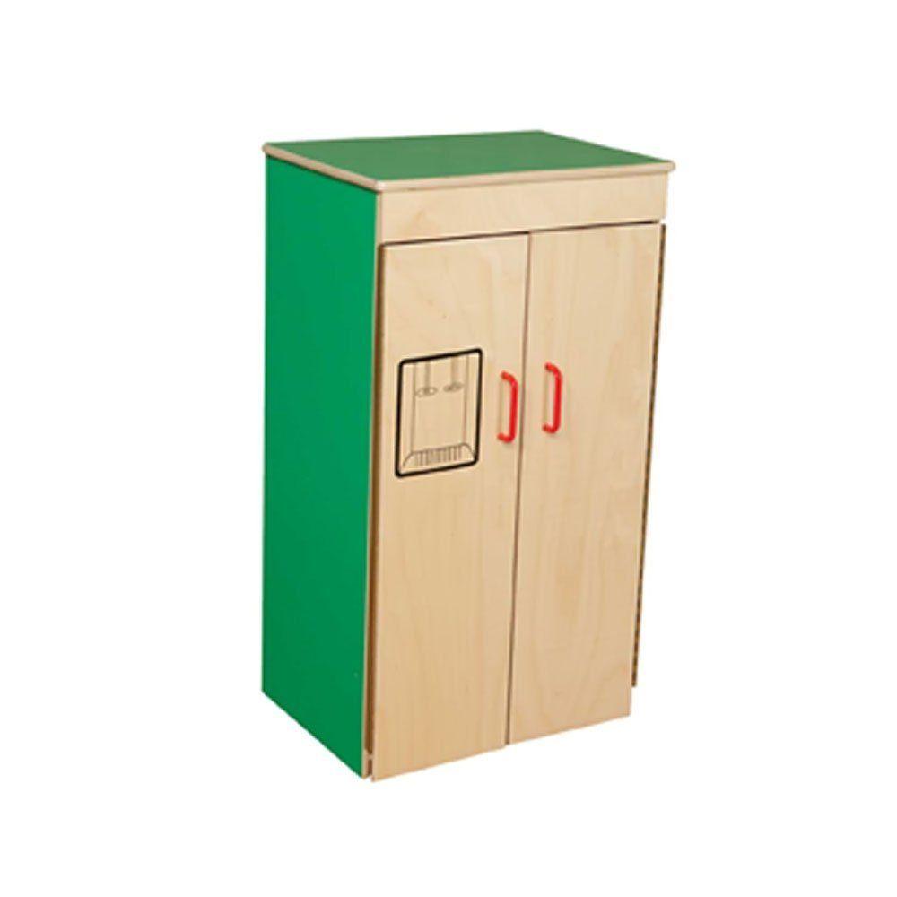 "Amazon.com: Wood Designs Children Pretend Play Toys Wd10400G Green Apple Refrigerator 36""H X 21""W X 15""D: Toys & Games"