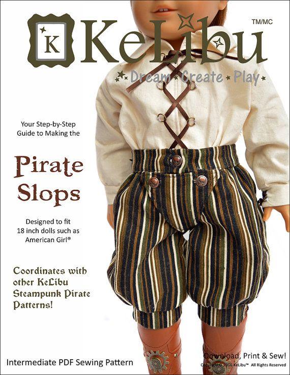 Pixie Faire KeLibu Steampunk Pirate Slops von PixieFairePatterns