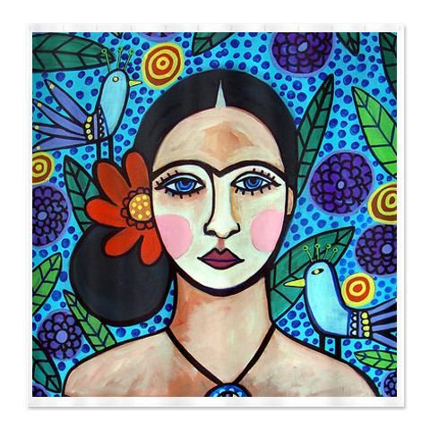 Frida Kahlo Shower Curtains Colorful Mexican Folk Art By Heather