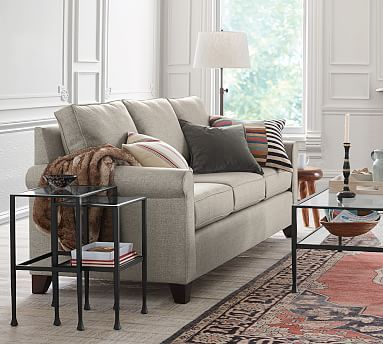 Cameron Roll Arm Upholstered Grand Sofa 98 Polyester