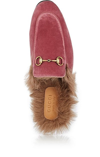 ee77e3b405e Gucci Princetown Velvet Slippers - Loafers - 505173482